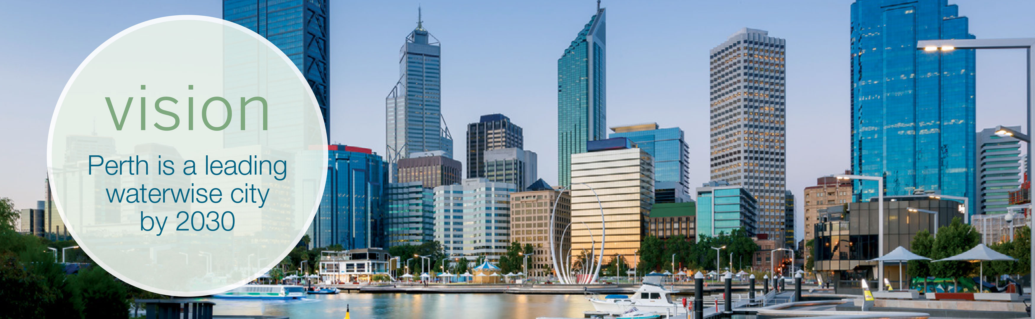 Perth is leading waterwise city by 2030 banner