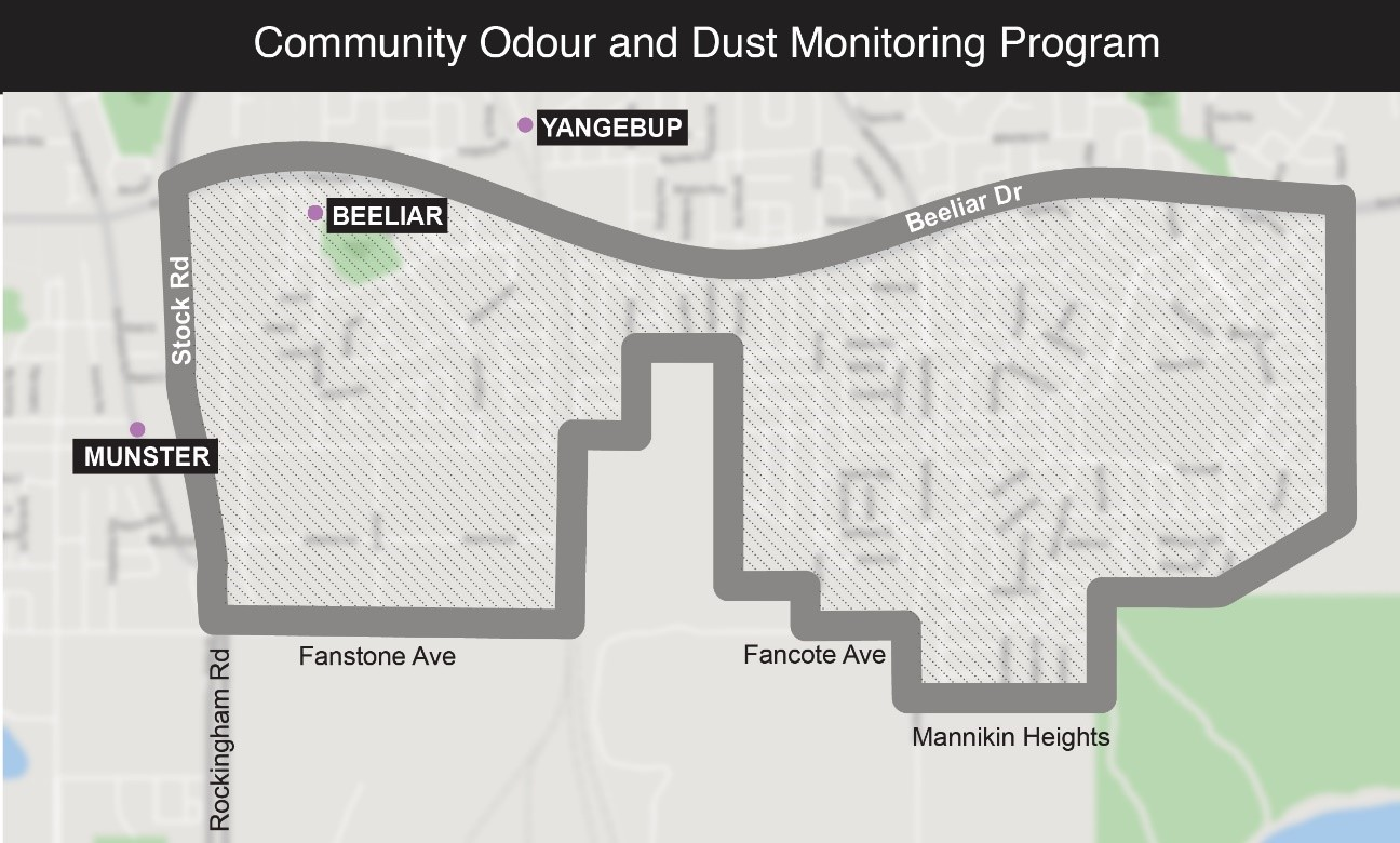 Community Odour and Dust Monitoring Program in the area of Cockburn.