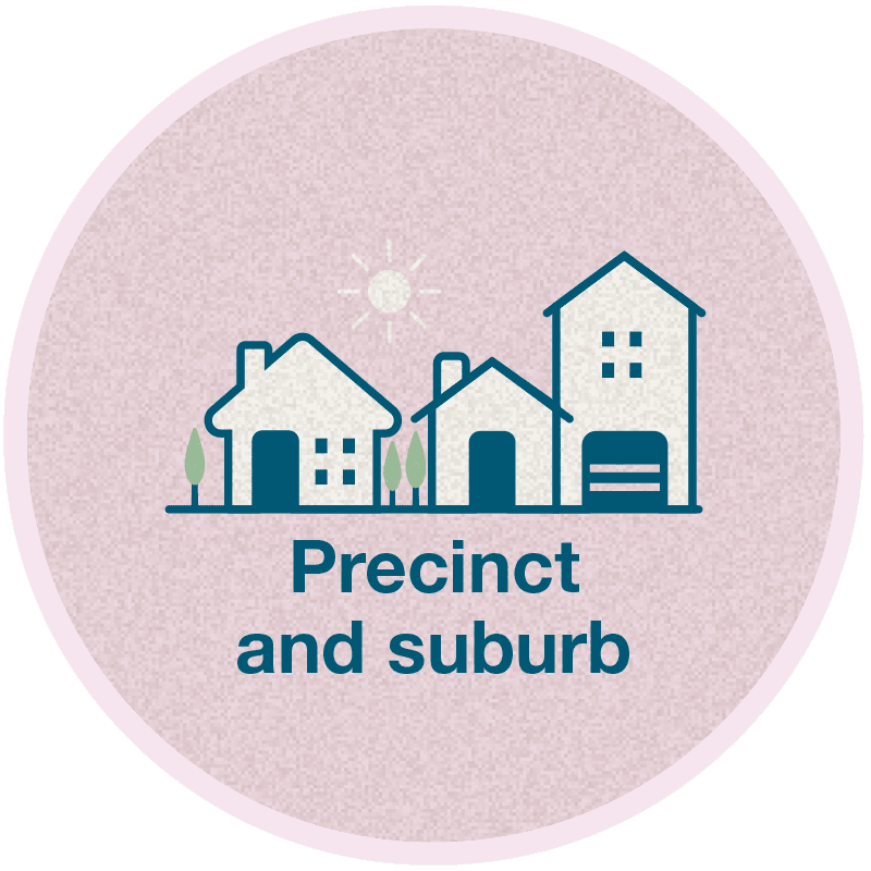 Precinct and Suburb logo