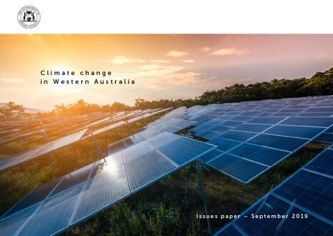 The cover of the Issues Paper, which shows a solar energy farm.